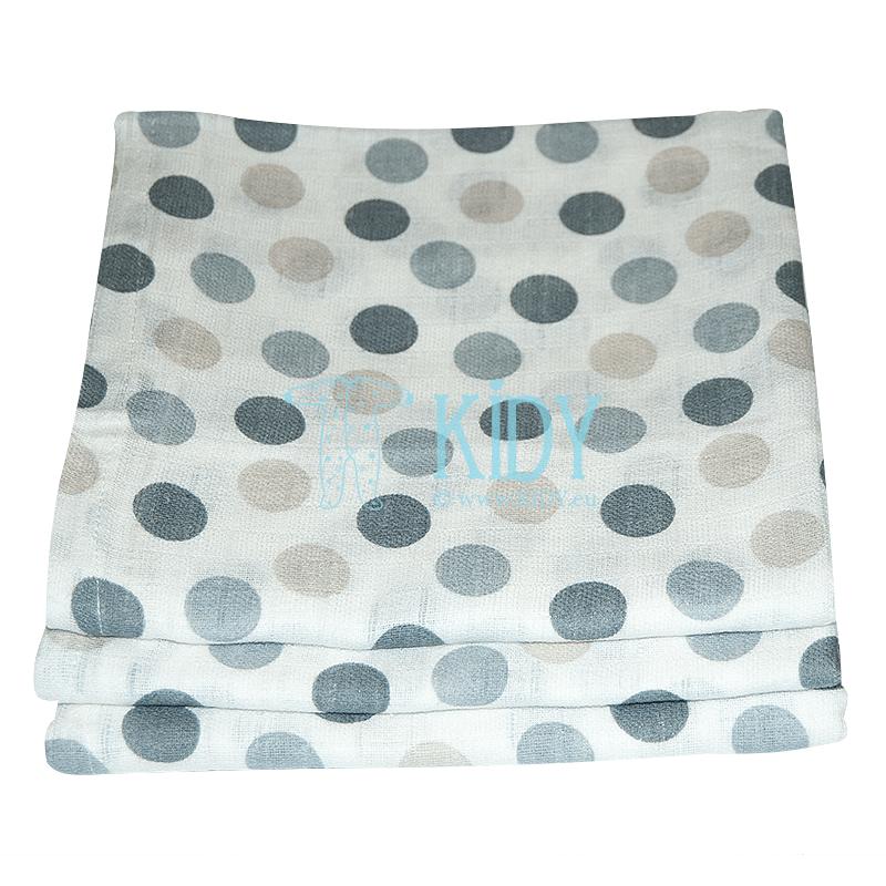 Grey GAUZE muslin wrap