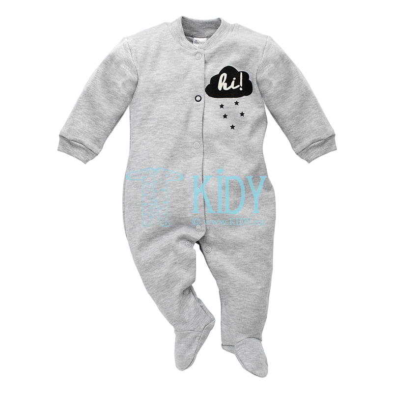 Grey HAPPY DAY sleepsuit