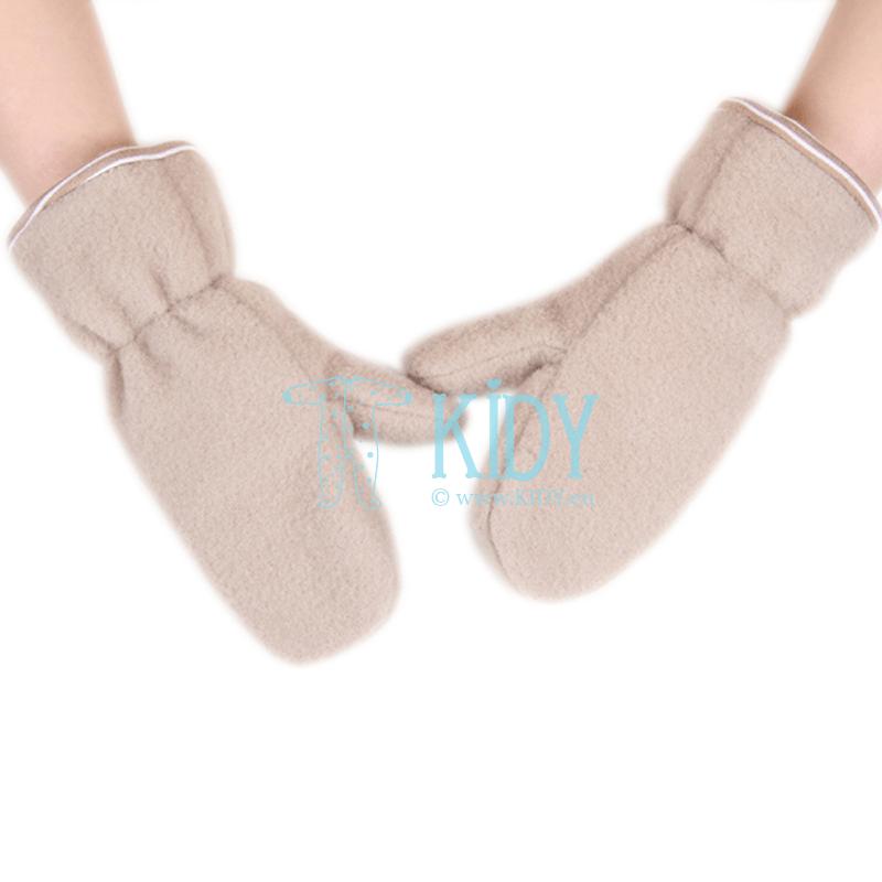 Beige AVIUKAS mittens for babies
