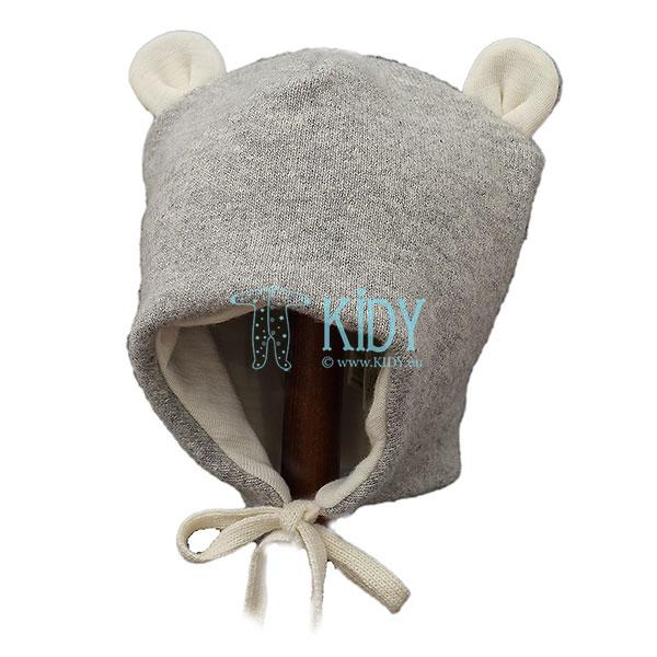 Pilka merino vilnos kepurė LENNY