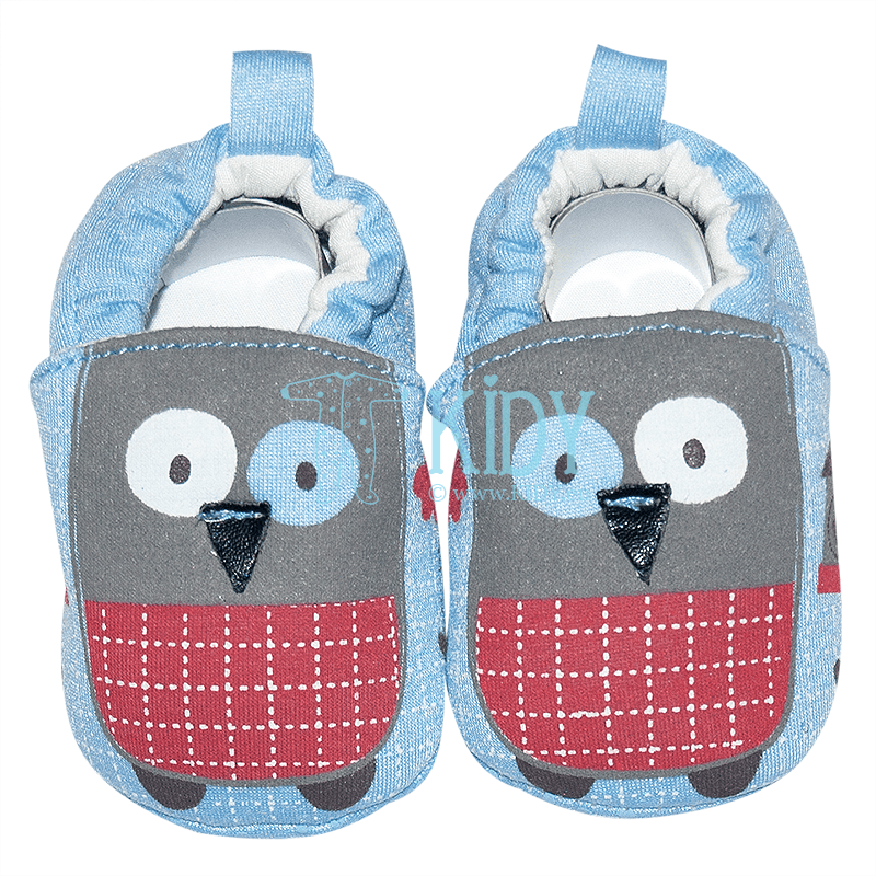 Blue OWL booties