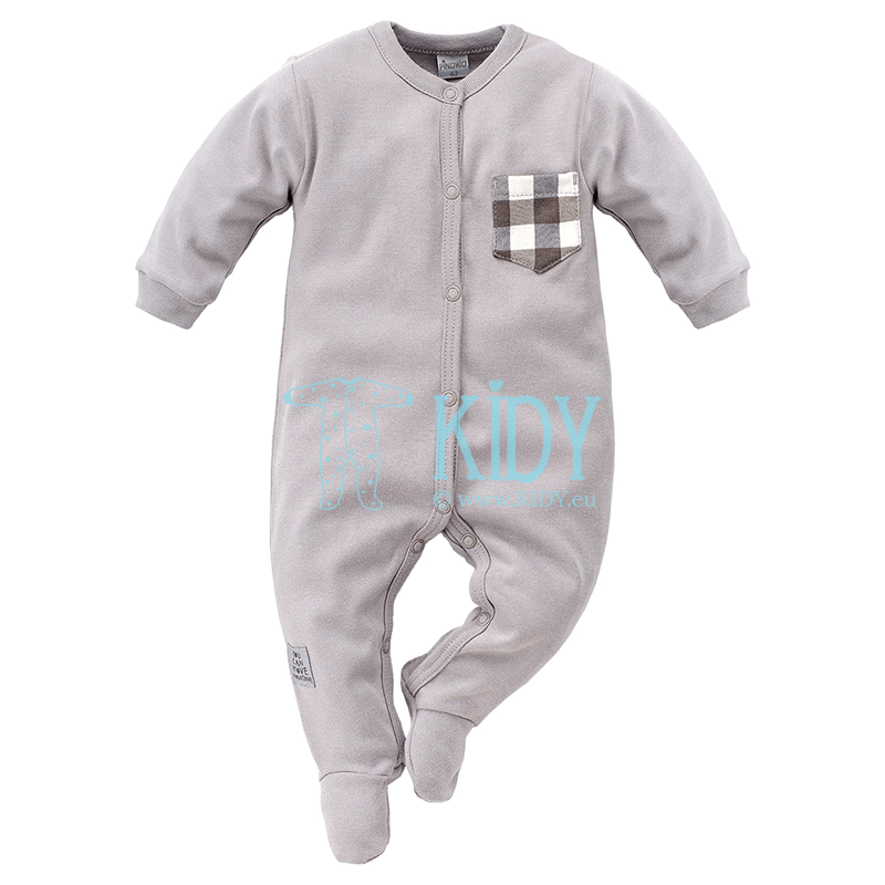 Grey NORTH sleepsuit