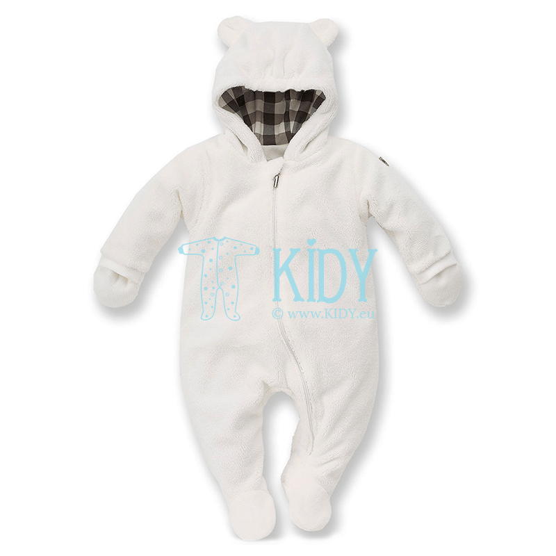 White NORTH snowsuit with mitts