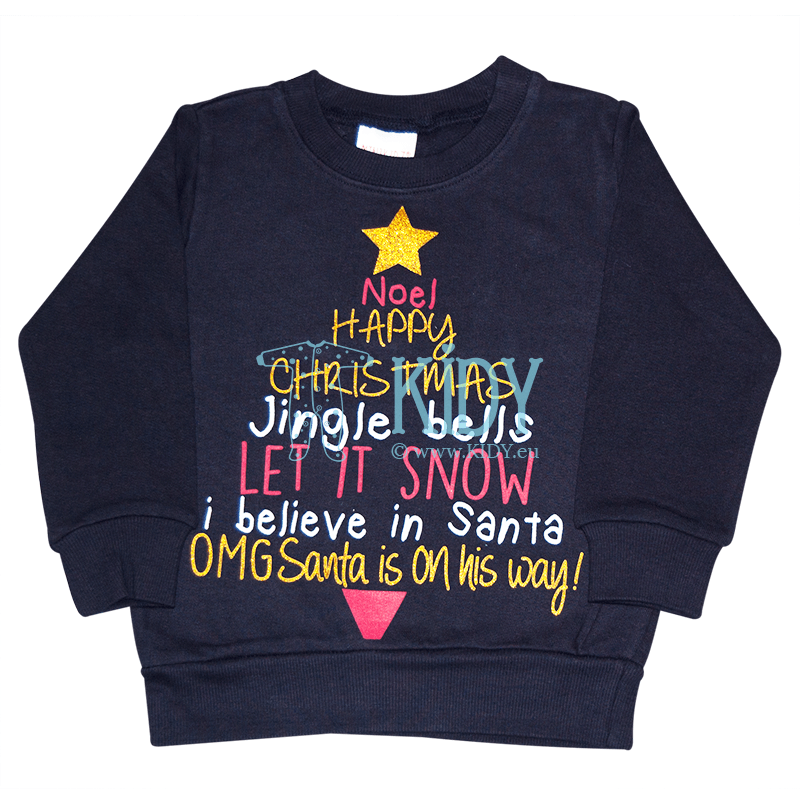 Navy CHRISTMAS sweatshirt