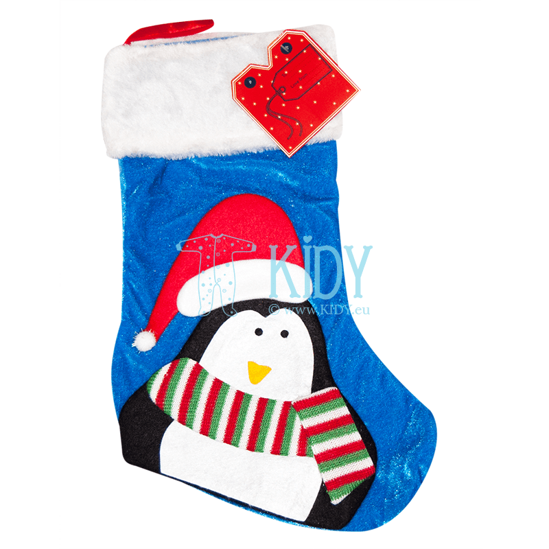 Blue CHRISTMAS sock for gifts