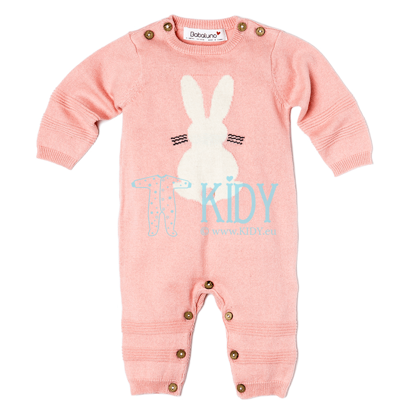 Pink knitted BUNNY playsuit