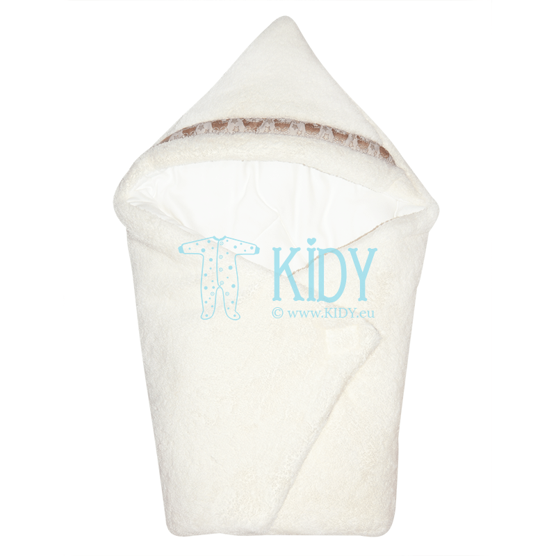 Creamy winter envelope swaddle