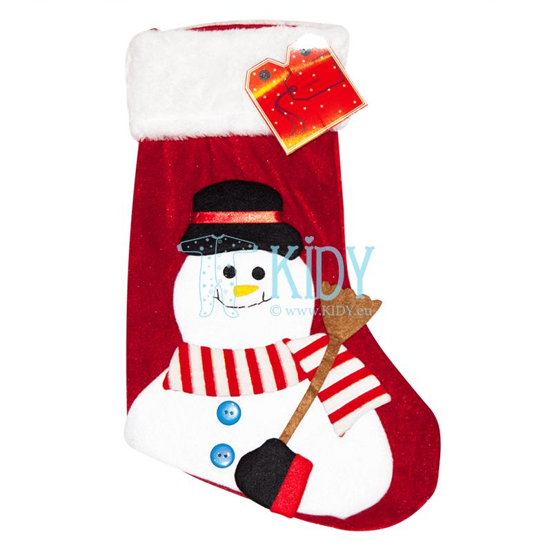 Raudona kojinė dovanoms CHRISTMAS