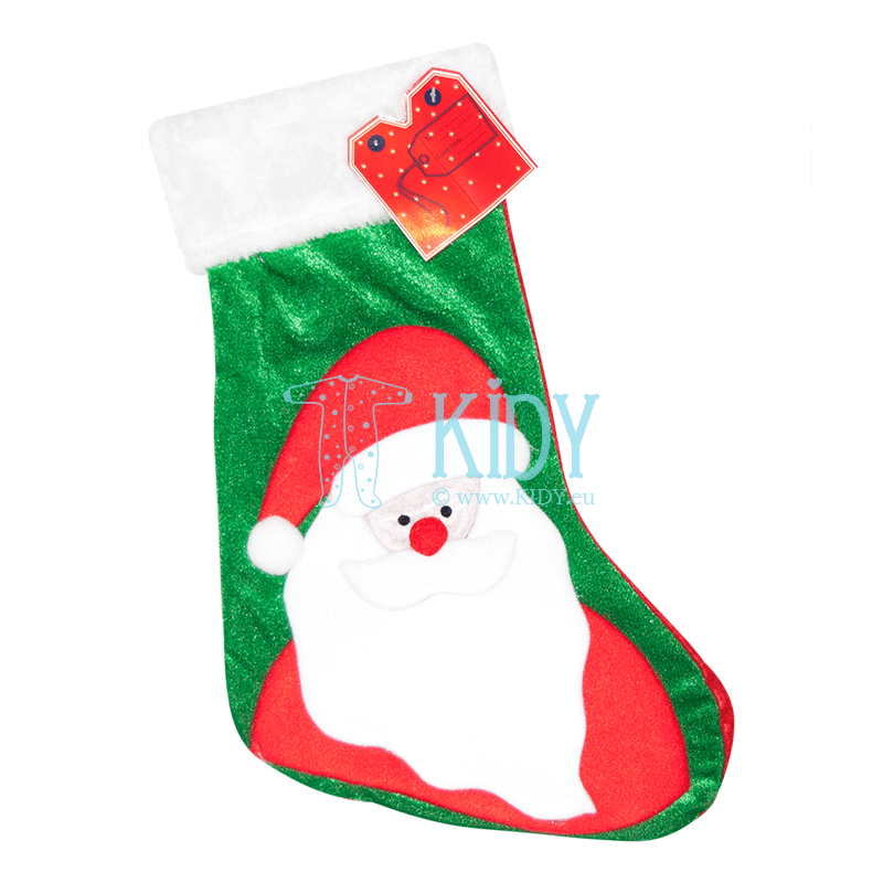Green CHRISTMAS sock for gifts