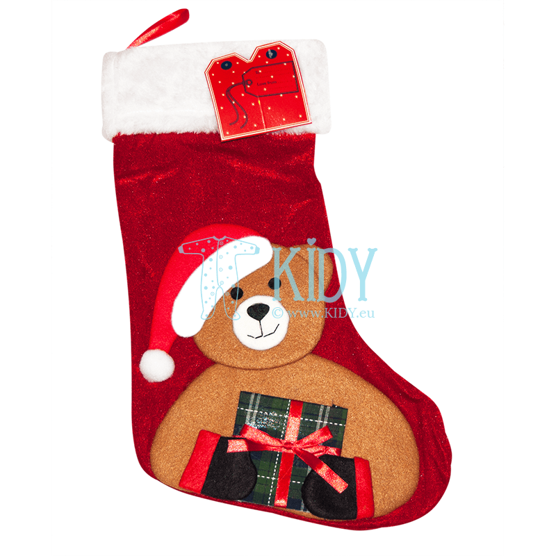 Red CHRISTMAS sock for gifts