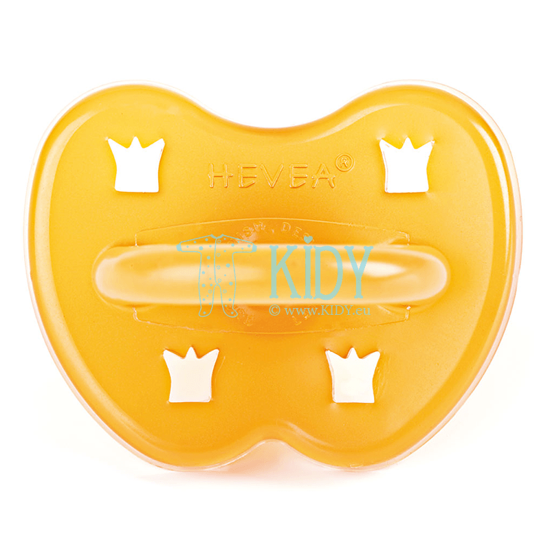 CROWN natural rubber round pacifier