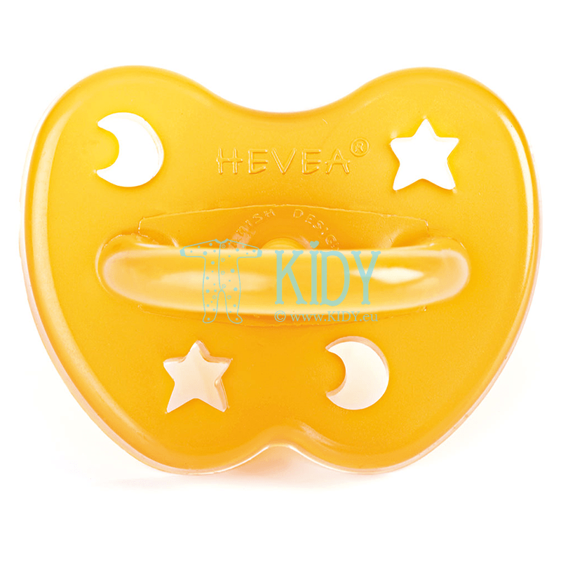 STAR & MOON natural rubber orthodontic pacifier (Hevea Planet)