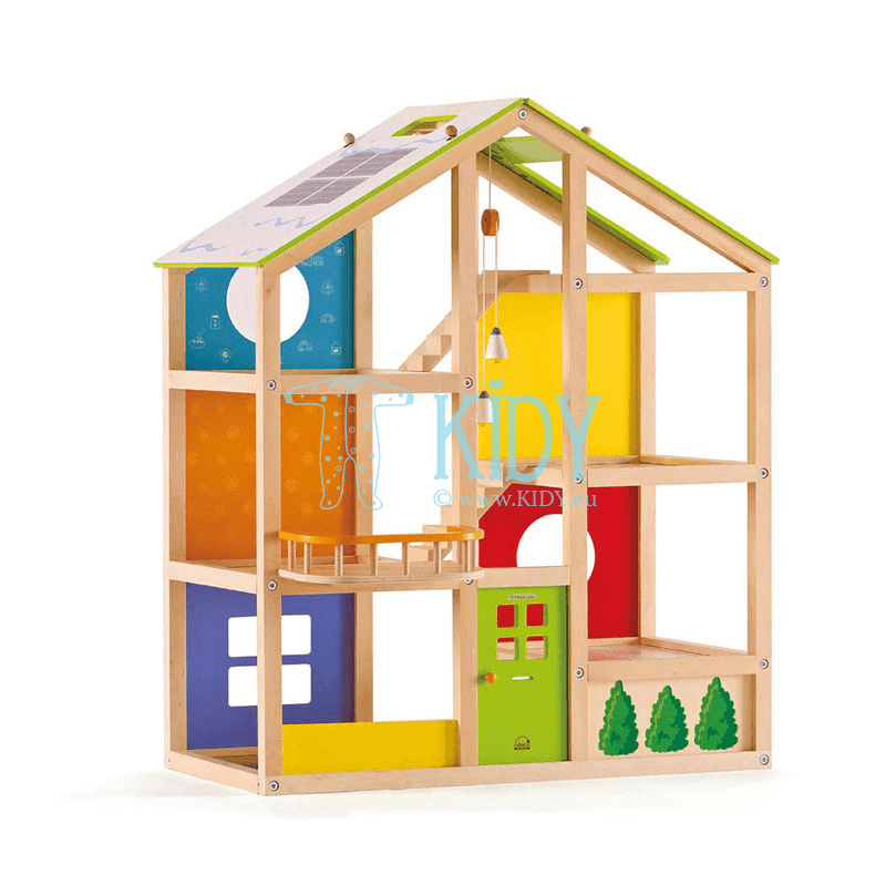 Wooden All Season Dollhouse