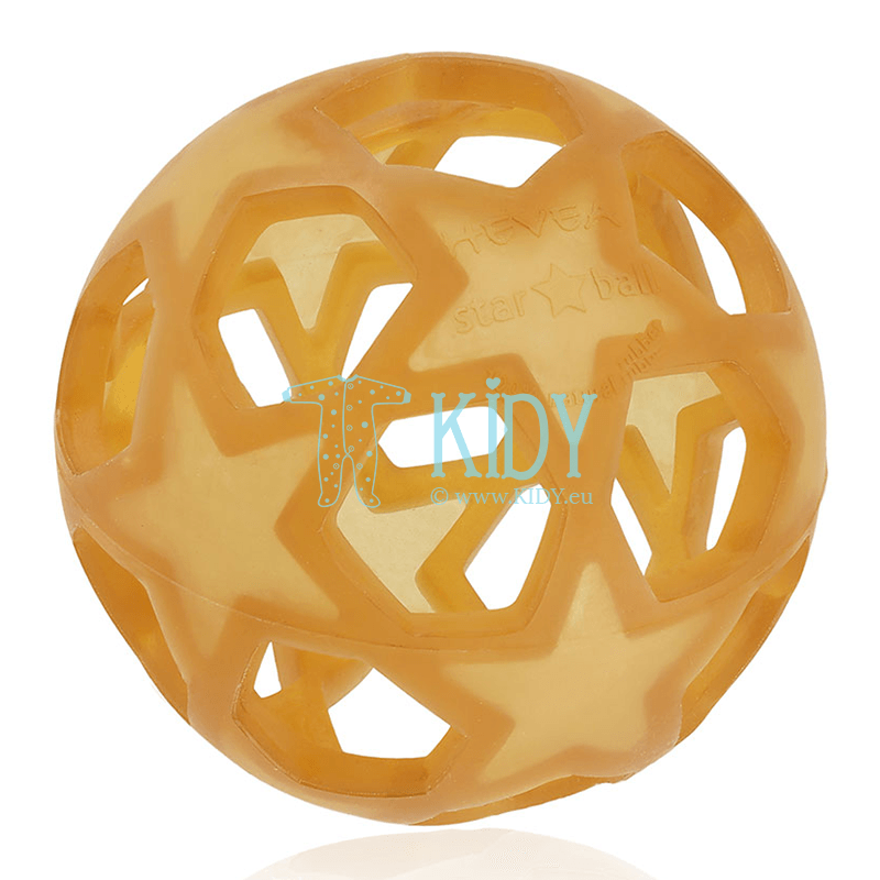 Guminis kamuolys STAR BALL NATURAL (Hevea Planet)
