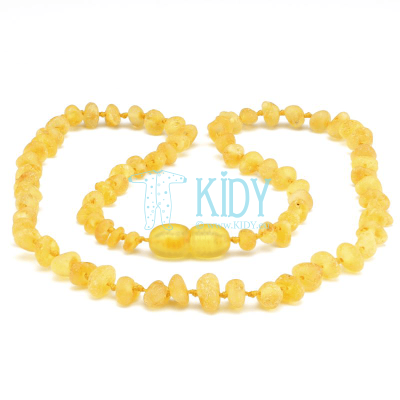 Amber LEMON teething necklace