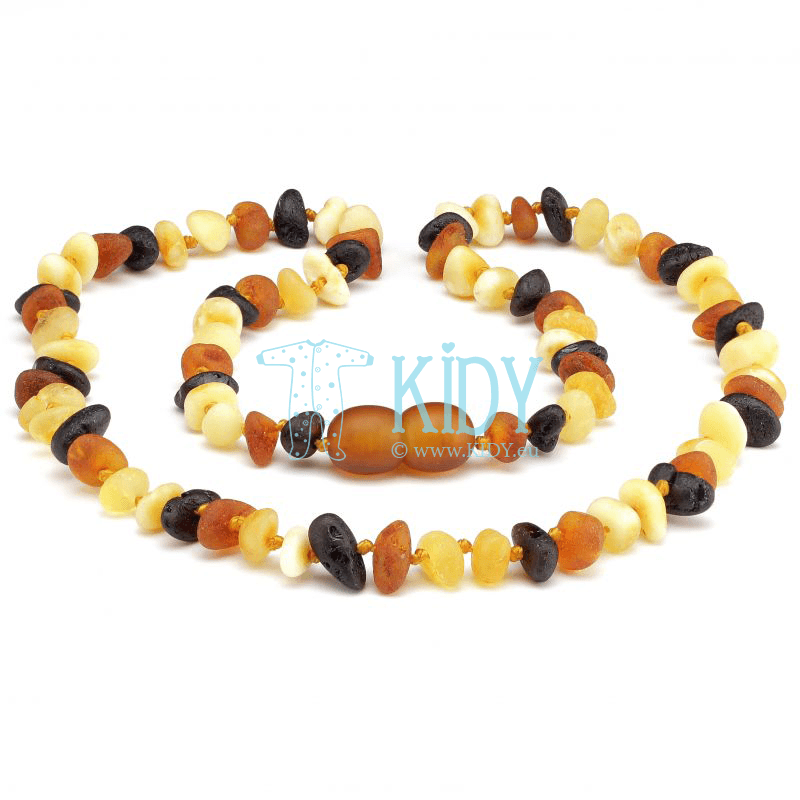 Baby amber MULTI  teething necklace (Baltic Amber)