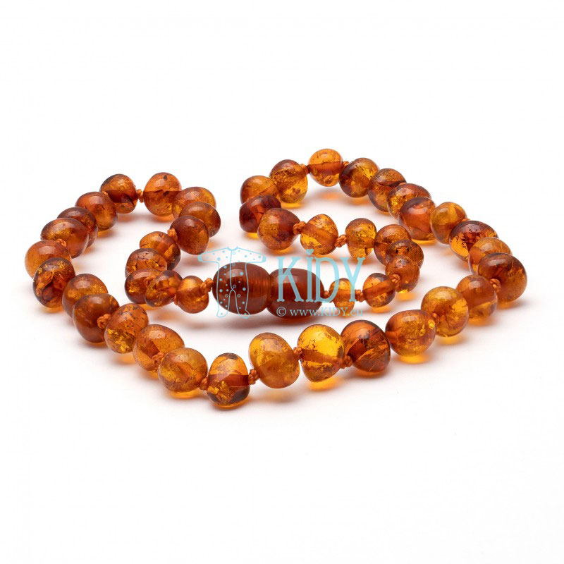 Amber COGNAC teething necklace