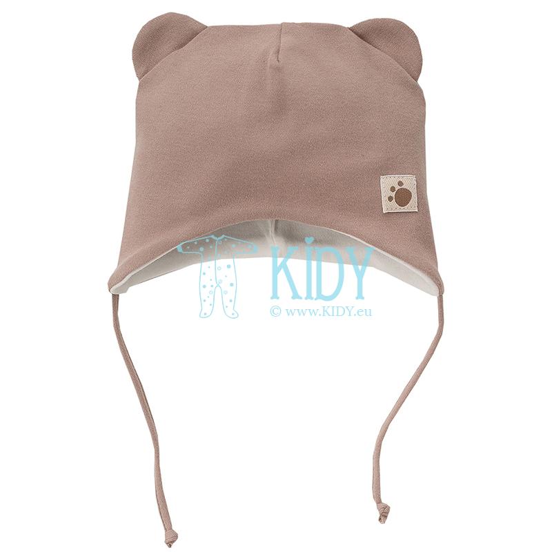 Коричневая шапочка TEDDY BEAR