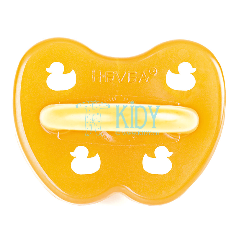 Symmetrical  natural rubber DUCK pacifier