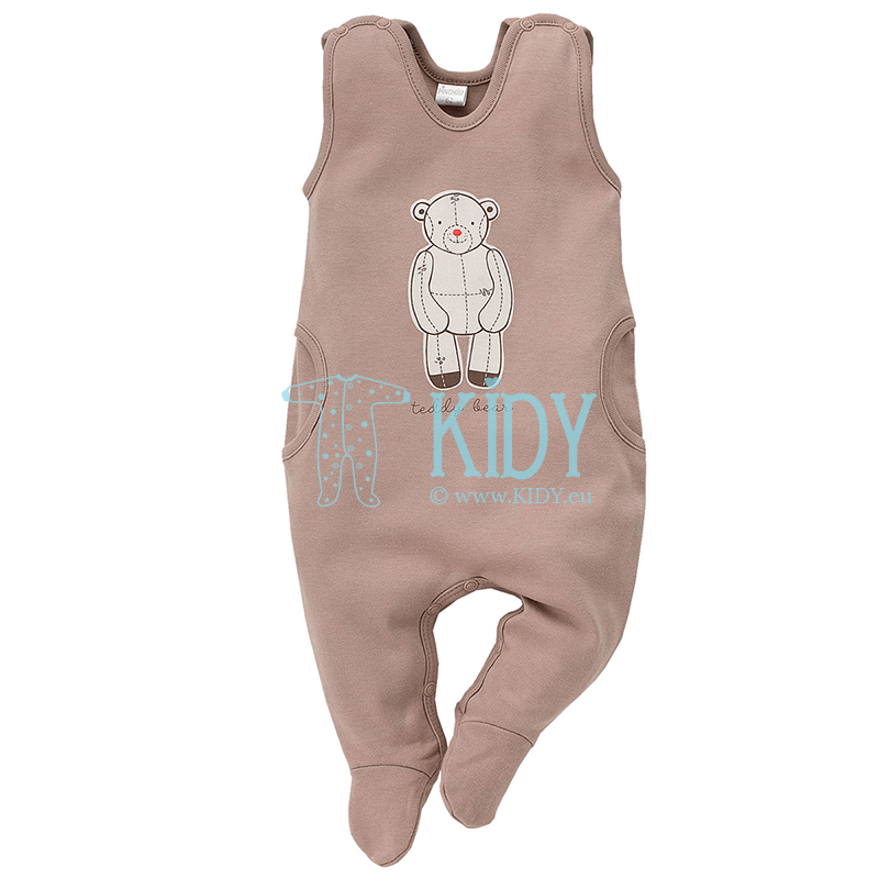 Brown TEDDY BEAR dungaree