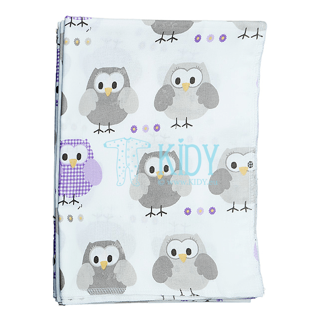 White TOTO wrap with owls