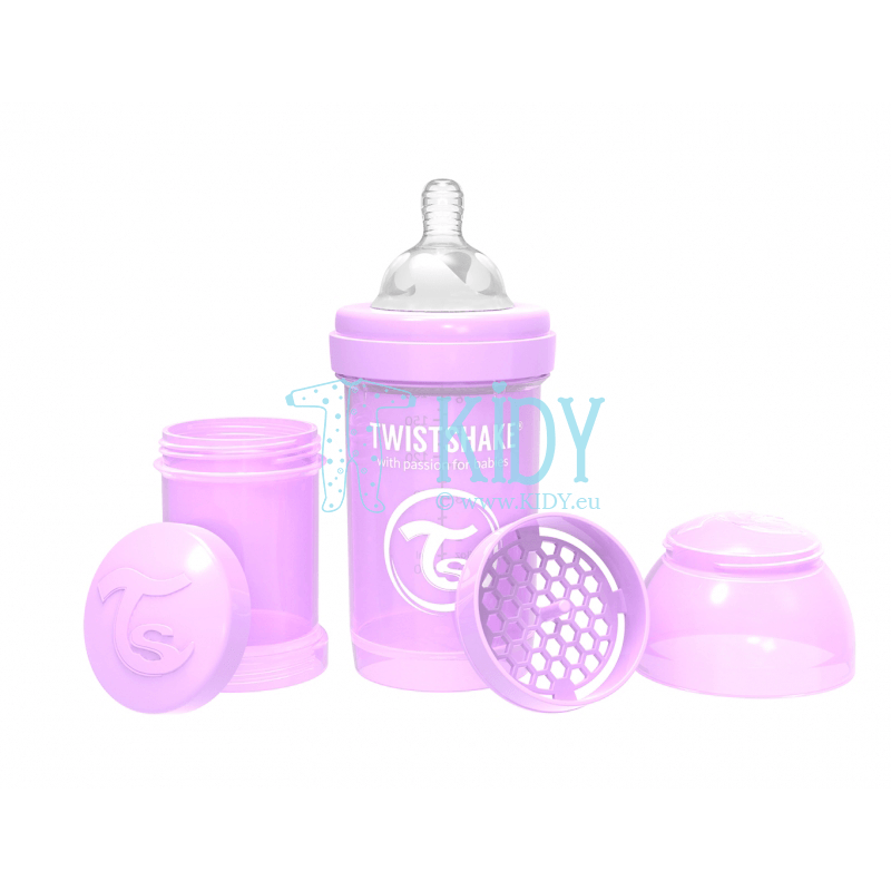 Purple ANTI-COLIC feeding bottle