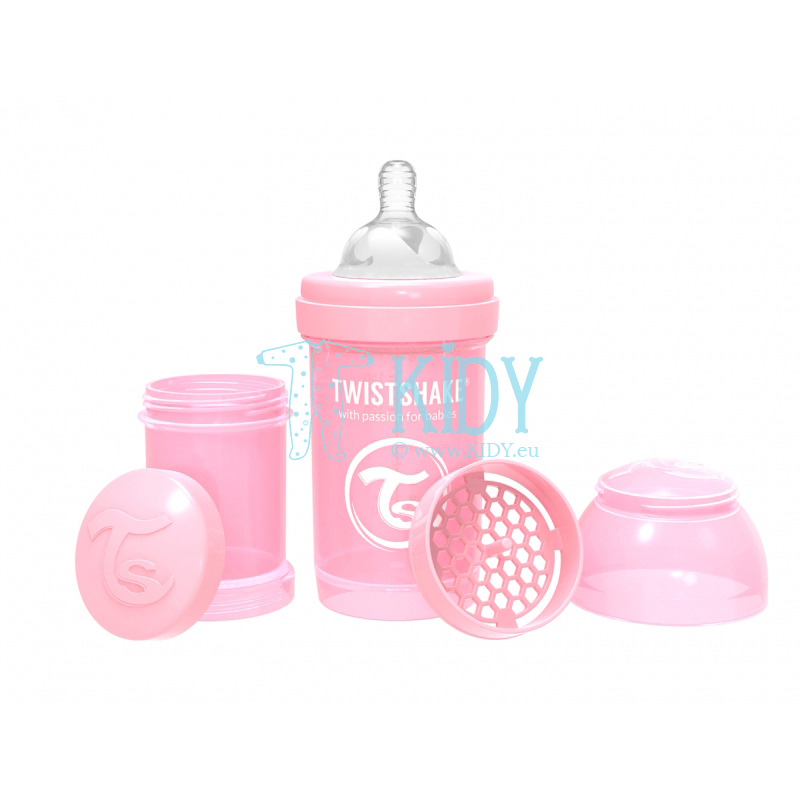 LIGHT PINK ANTI-COLIC feeding bottle