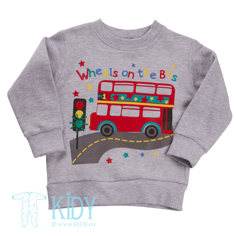 Grey BUS jumper (Baby Town)