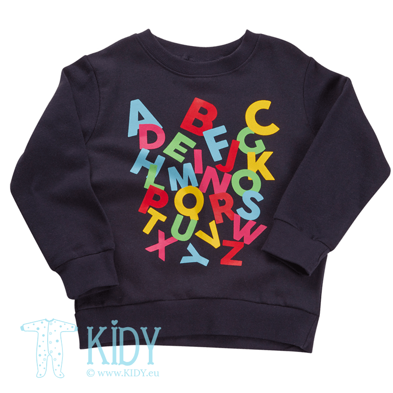 Navy ABC jumper