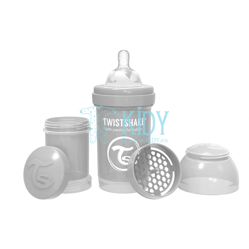 Grey  ANTI-COLIC feeding bottle