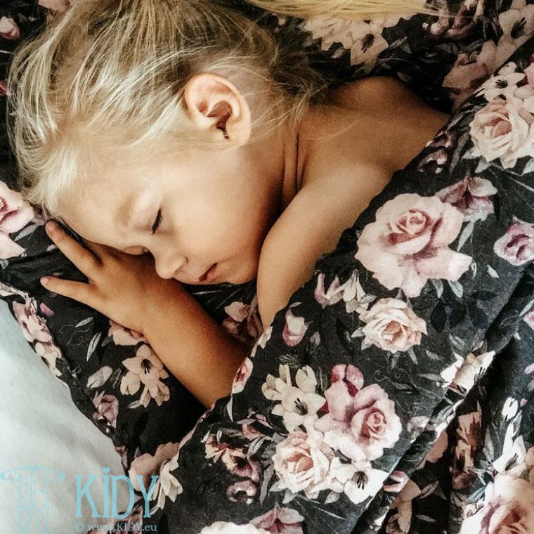 Patalynės komplektas Night Flowers: antklodė + pagalvė (MAKASZKA) 5