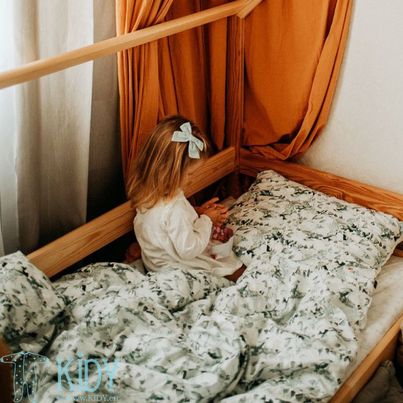Patalynės komplektas Sage Green: antklodė + pagalvė (MAKASZKA) 5