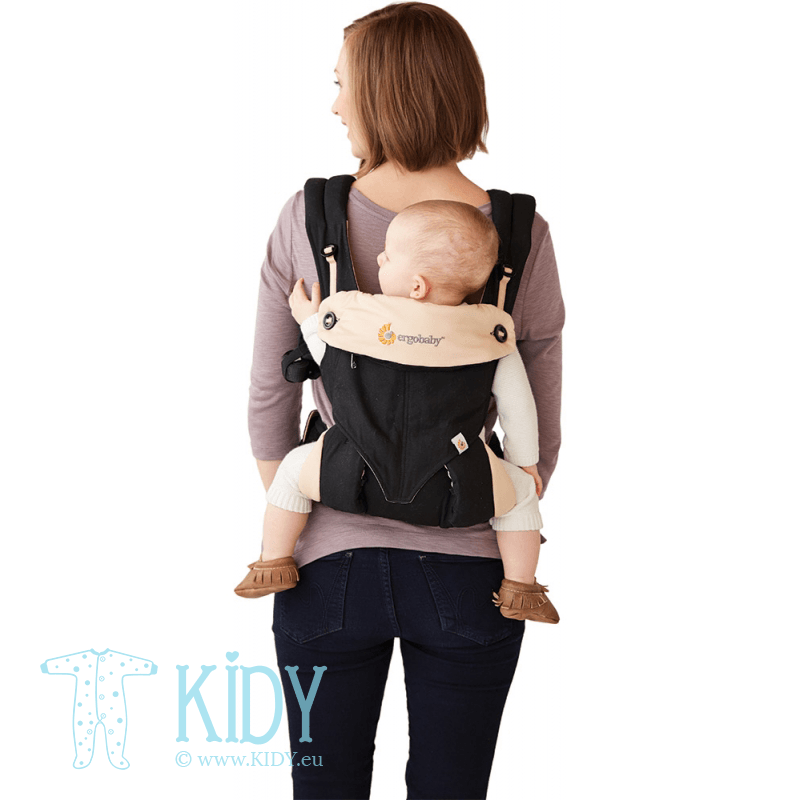 Nešioklė ALL POSITION 360 Black/Camel (ErgoBaby) 5
