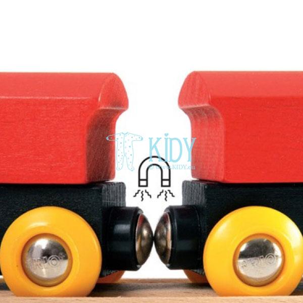 Traukinių rinkinys medinis, 8 dalys (Brio) 5