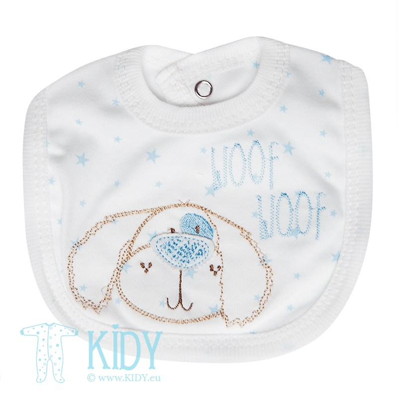 Blue PREMATURE set: sleepsuit + bib + hat (Bee Bo) 5