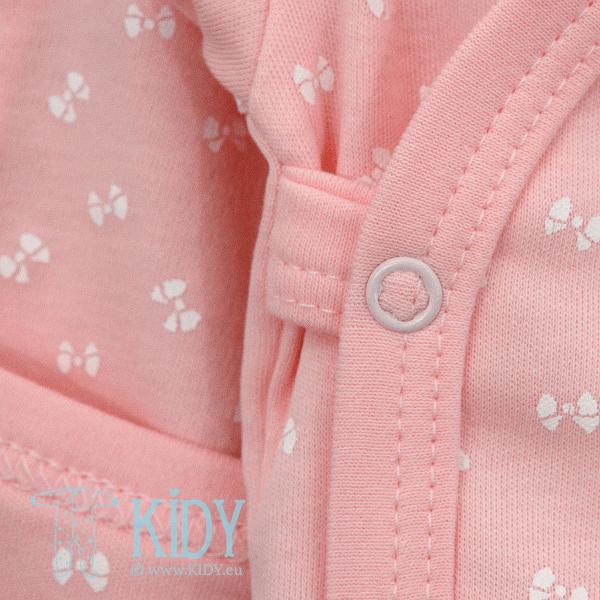 Pink kimono bodysuit LUCKY with mitts (Lorita) 5