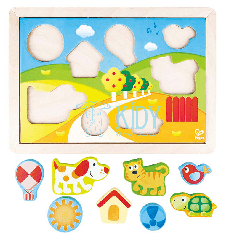 SUNNY VALLEY puzzle (3 in 1) (Hape) 5