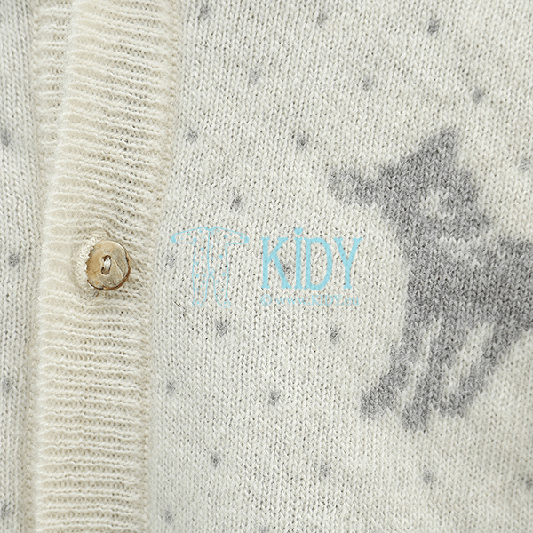 Ecru thick LENNY playsuit of merino wool (Lorita) 5