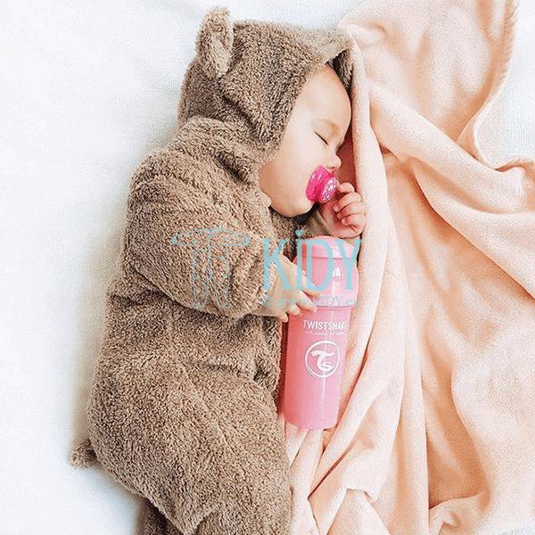 Розовая бутылочка для кормления ANTI-COLIC LIGHT PINK (Twistshake) 5