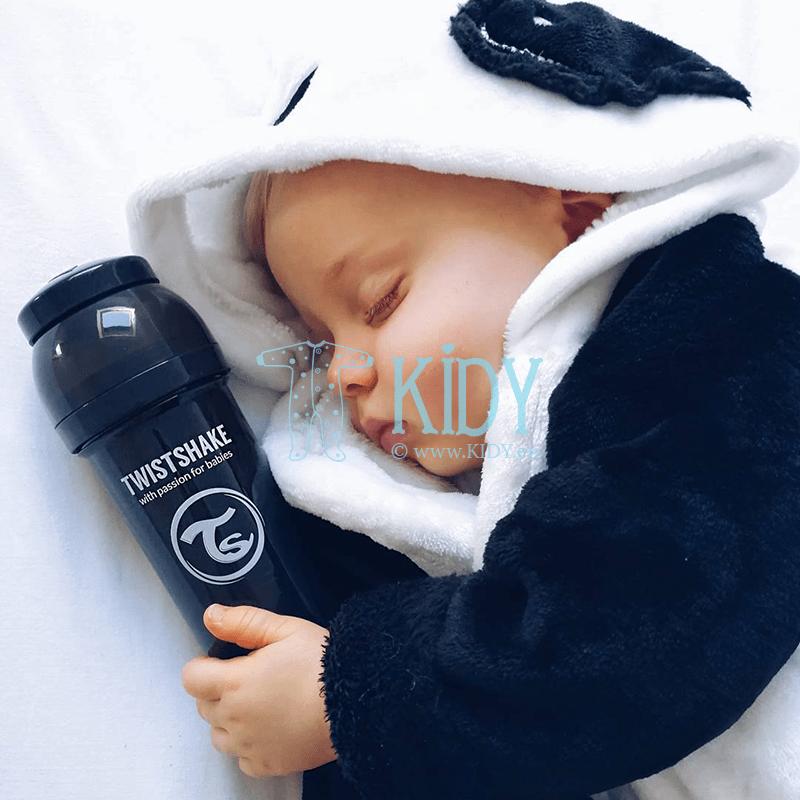 Черная бутылочка для кормления ANTI-COLIC (Twistshake) 5