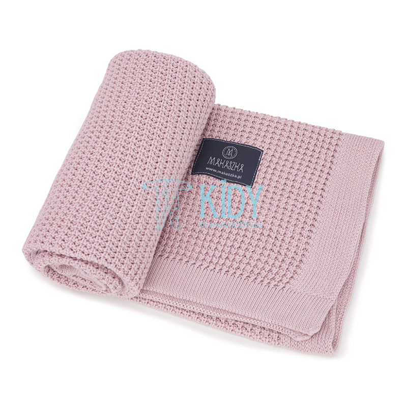 Pink Bambus knitted plaid (MAKASZKA) 5