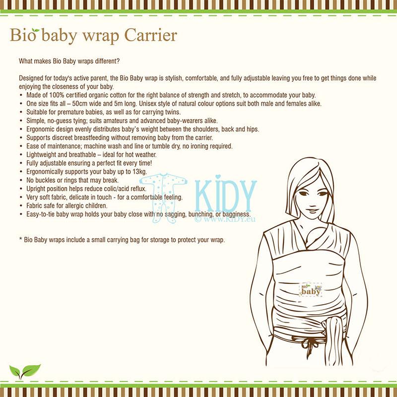 Ekologiška medvilninė nešioklė-slingas ORGANIC (BIO Baby) 5