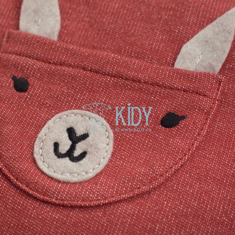 Raudonas kombinezonas HAPPY LLAMA (Pinokio) 5