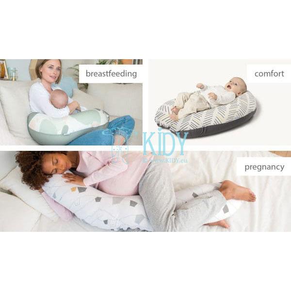 Pagalvė BUDDY BIRDS PETROL nėščioms moterims (Doomoo) 5