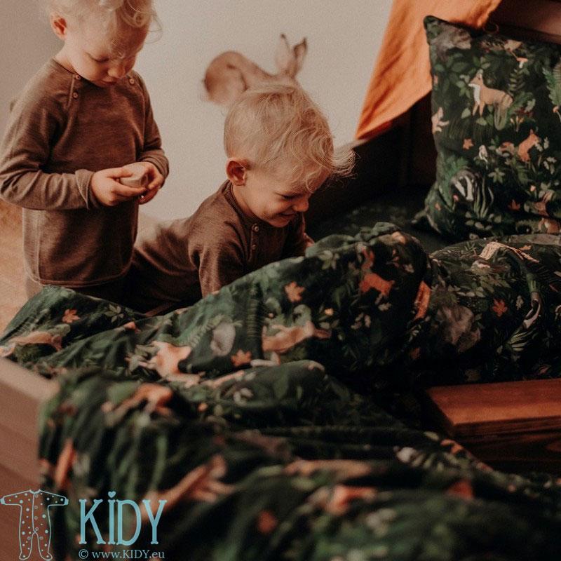Patalynės komplektas Woodland: antklodė + pagalvė (MAKASZKA) 5