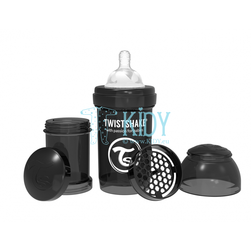 Black ANTI-COLIC feeding bottle