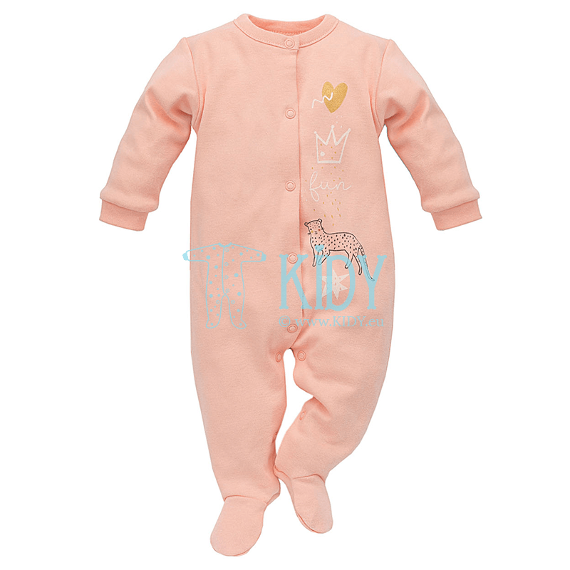 Pink SWEET PANTHER sleepsuit