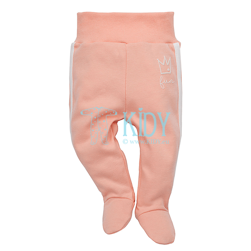Pink SWEET PANTHER footed pants