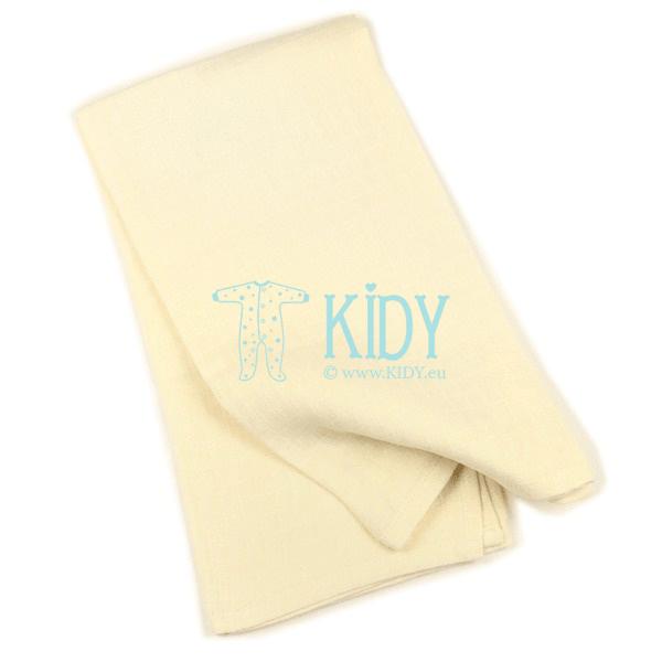 Creamy PLAIN muslin wrap