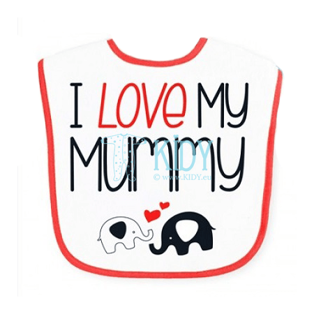 Waterproof I LOVE MUMMY bib